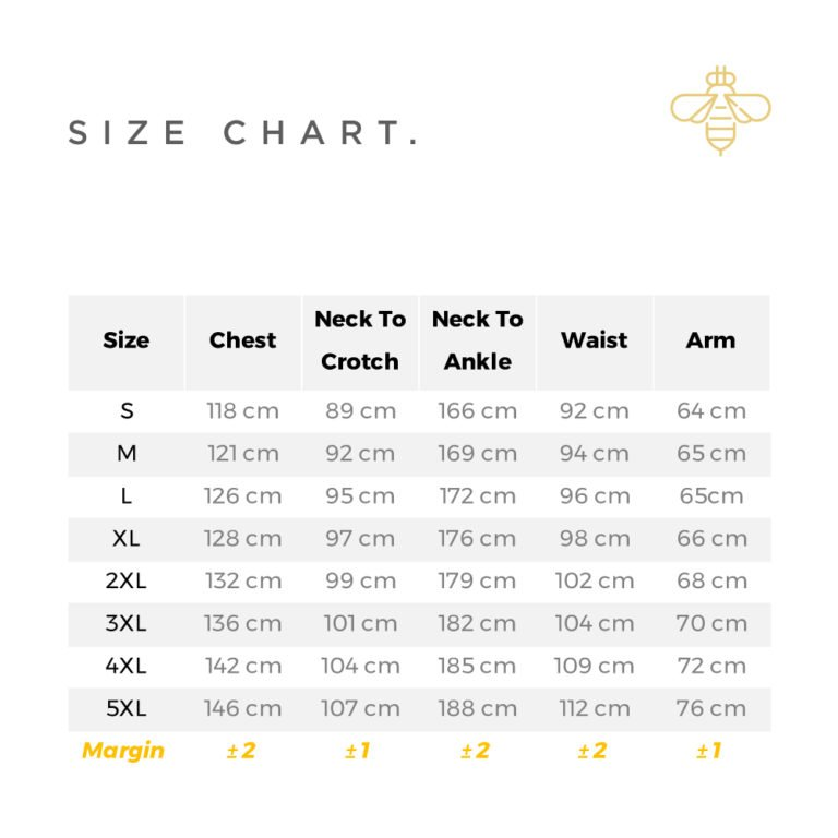 bhive-beekeeping-supplies-bee-suit-size-chart